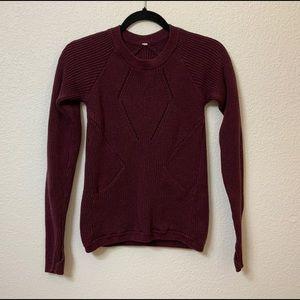 Lululemon sweater front pocket burgundy size 0